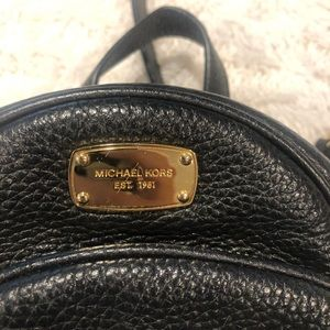 Michael Kors black mini backpack !
